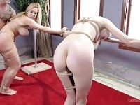 Stepmom and Daughter Offer Disobedient Holes
