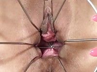 PJGIRLS Klarisa Leone extreme pussy stretching, self-fisting & special gyno wire dildo